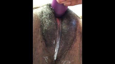 TiinyPussy Milky Creampie Cum with vibrator