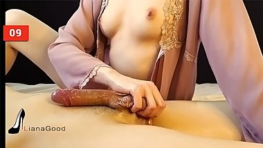 Young Russia beauty teases cock and does not let the guy cum. Gentle femdom