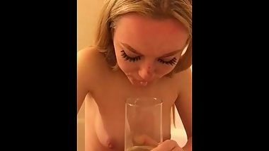 Awesome Blonde! - Drinking pee - What's her name?
