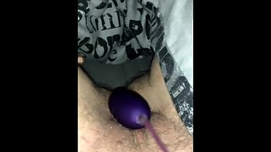 Hairy Teen Uses Vibrator For The First Time