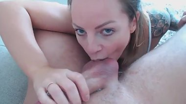 Rimming ass and hotel anal creampie with tattooed milf