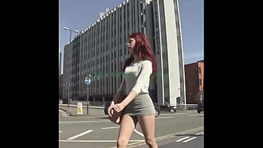 SLUTTY CANDID GERMAN REDHEAD SLUT