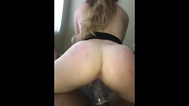 Petite College Blonde Rides BBC and Takes Cumshot