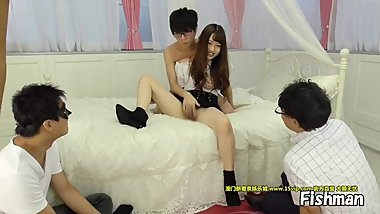 Cute Japanese girl get gangbang by virgin