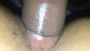 Fat black dick in wet creamy pussy
