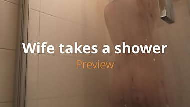 pregnant wife having a hot shower - tease herself  preview  Peter Noak