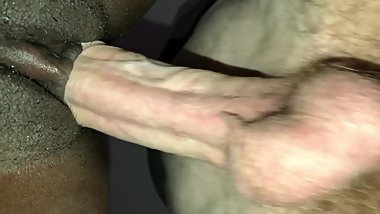 Skinny White Guy Barebacks Ebony Tight Pussy + Twerk on Cock Big Ass