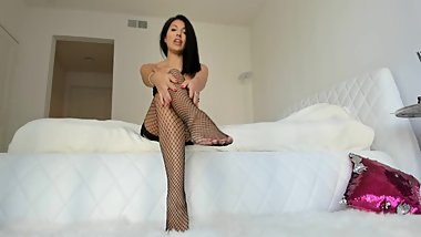 Hot Fishnet Pantyhose Legs Tease Joi