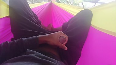 Stroking Right Above My Brother in His Hammock