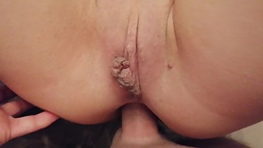 She from the first time fell in love with anal and finished from him!