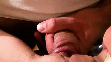 pussy fucked and dick slapped closeup female pov