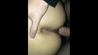 Latina getting fucked in the closet while getting filled with cum