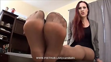 Awesome Pantyhouse Feet Jerking Off