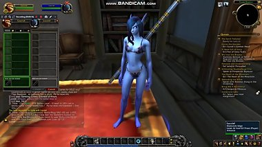 Paying a sexy Void Elf to strip in World of Warcraft