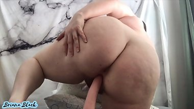 Chubby Teen Fucks and Rides Dildo