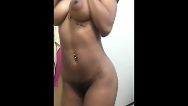 Sexy EBONY TEEN  being naughty and Seductive