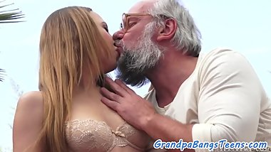 Dickriding eurobabe plowed by pensioner
