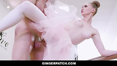 GingerPatch - Petite Redhead Ballerina Takes Huge Cock