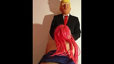 Sexy Meeting between Jenny Pink and Donald Trump  4k