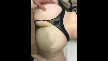Parents home but she still wants to fuck in doggy style