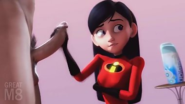 VIOLET HANDJOB FROM THE INCREDIBLES BY GREATM8