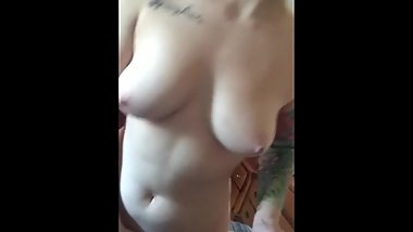 Hot Teen Showing Her Tits And Pussy