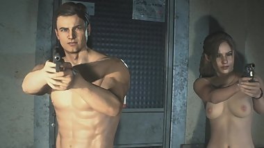 Resident Evil 2 Remake Opening Nude Claire and Leon BioHazard Bio Hazard