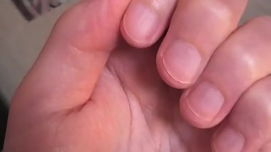 Deborah hands fetish longs nails vs nails biting hot asmr handworship