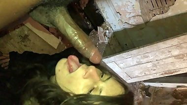 Face glazed Teen Deepthroat blowjob with massive facial (Outdoor whores )