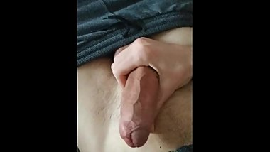 Playing with big cock
