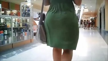 Finest Jiggly Bubble Butt Pawg in Green Dress