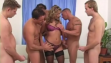 Lilliane Tiger DP Gangbang with 3 Cocks