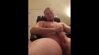 Showing off my thick ginger dick