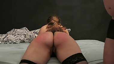 Slut Gets Spanked with a Belt
