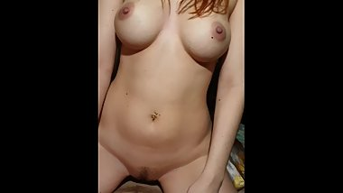 Redhead Tinder girl in my bedroom