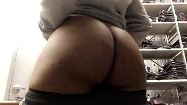 Boy caught playing with booty at work