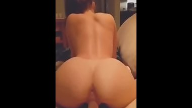 Fit College Babe With Fine Ass Rides Well-POV