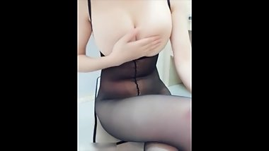 BIG BREASTS- Young Korean babe-creamy big tits-asian girl-sex nude-masturba