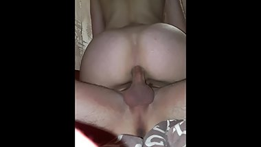 Hard;deep and painful anal sex with a student;dick slaps on the ass.