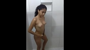 18 year old lovely girl in the shower