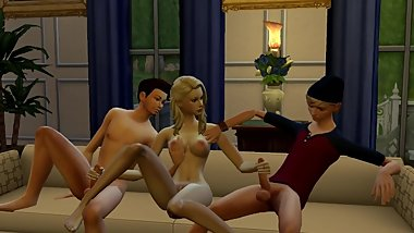 TEENS FUCKING - Threesome  The Sims 4: WickedWhims