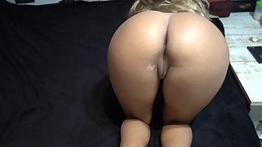 Our first porn video! doggy;footjob;CUM on latina big ass - unicorncouple